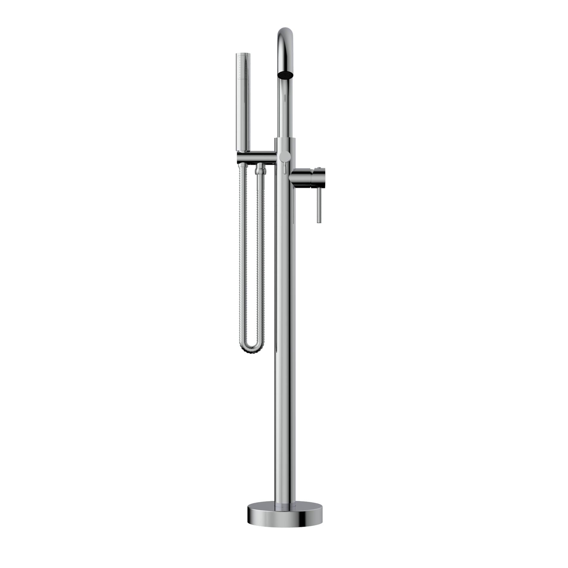Bathtub Faucet - Complete model // Floor Mount Bathtub Filler, Hand ...