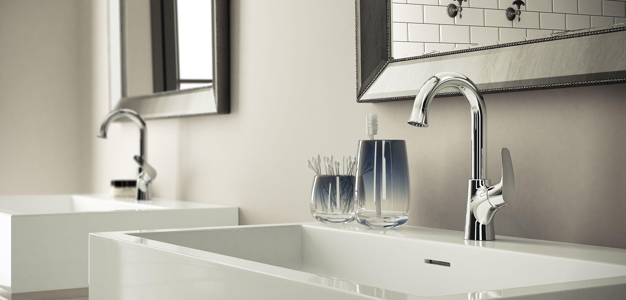 Robinet pour lavabo de salle de bain b langer upt for Robinet pour lavabo salle de bain