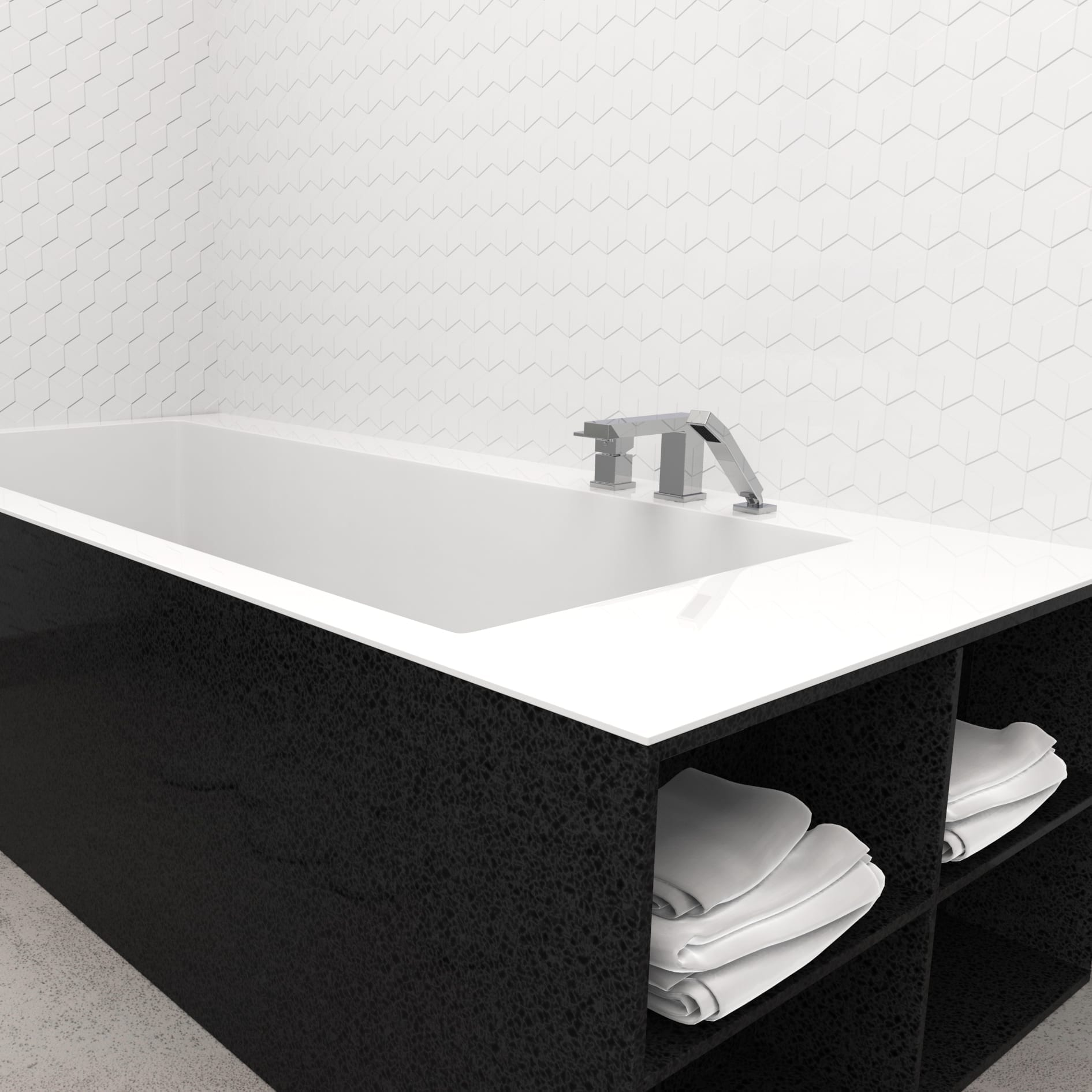 Bathtub Faucet - Complete model for Roman Bathtub, Hand Shower ...